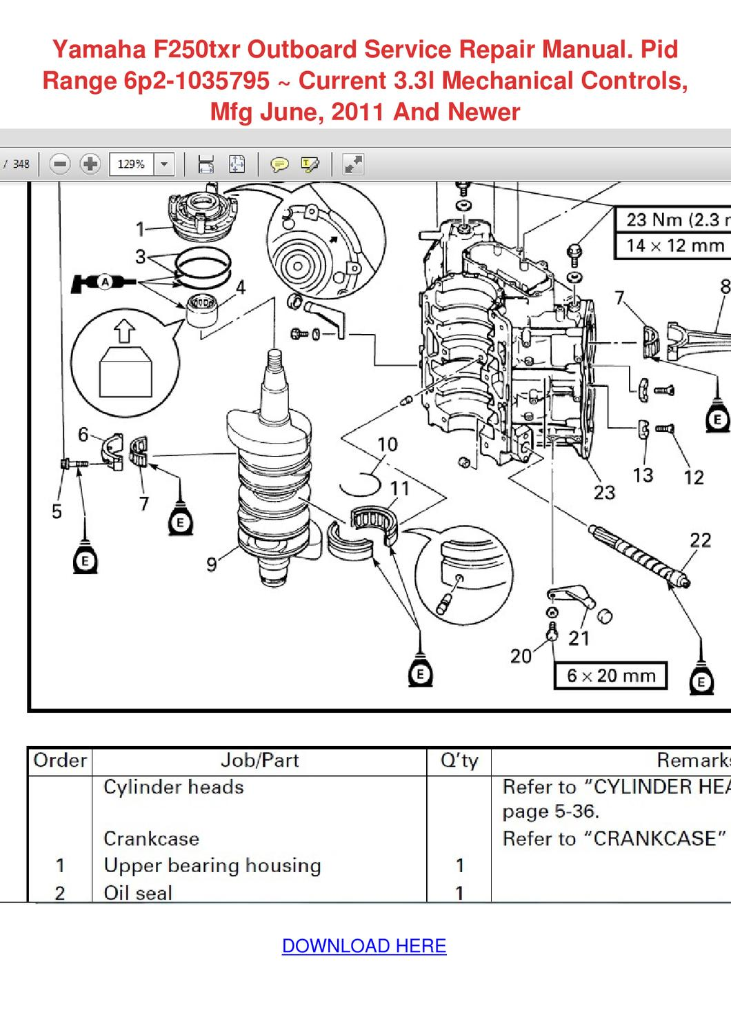 yamaha outboard motor parts manual